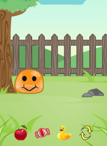 Screenshot of the game we built for this module.