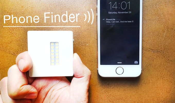 Push button to sound an alert on your phone