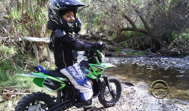 Get ready for you and your child to experience the world of motocross in a whole new way.   Take them on your next adventure on the mountain bike trails, or to your next enduro ride, park or mx track.