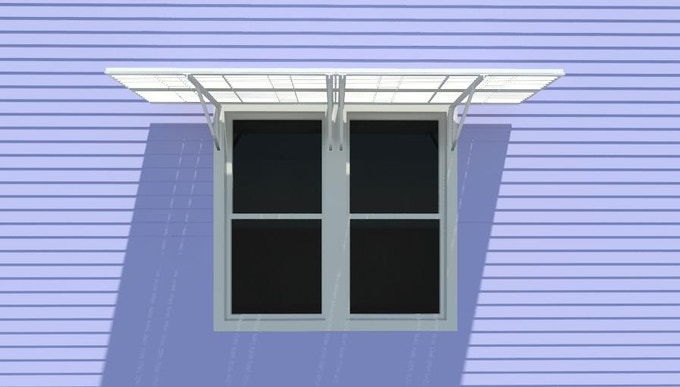 Coupled Sun Petals at two double hung windows