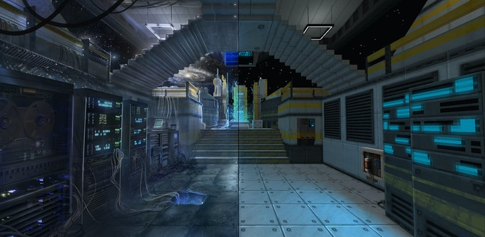 The insanely detailed worlds of STRAFE®: From concept art to breathtaking reality.