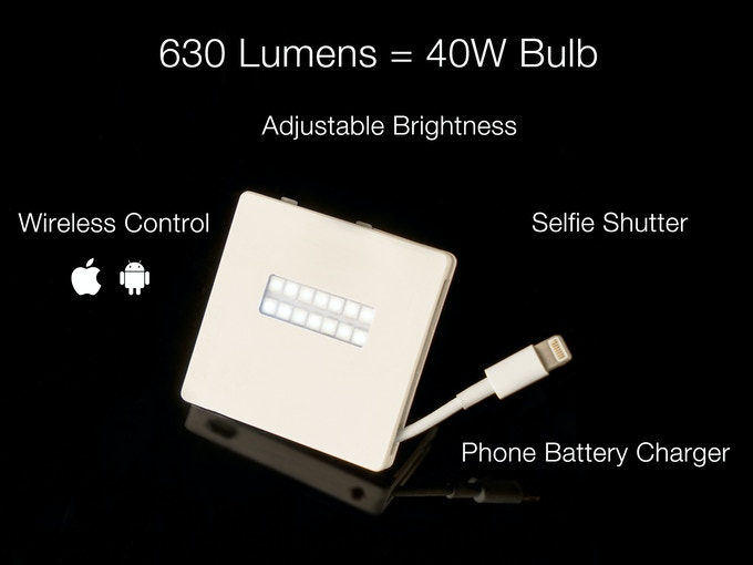 Take Instantly Better Photos: assistive & creative lighting for phone photography. Fully adjustable brightness