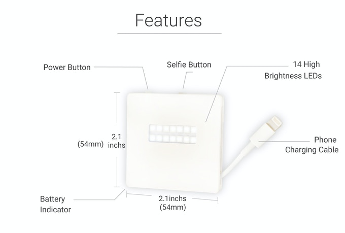 Creative Lighting. Pocket Charger. Wireless Selfie Shutter. Phone Finder.