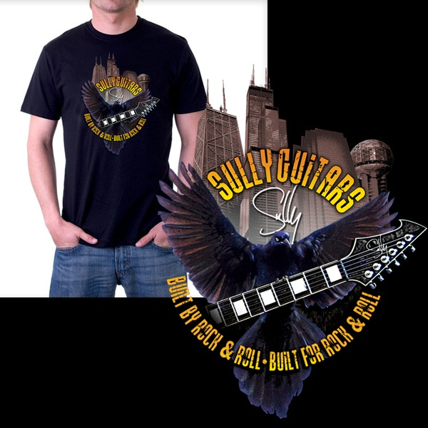 """New """"Sully Guitars - Built by Rock & Roll - Built For Rock & Roll"""" shirt"""