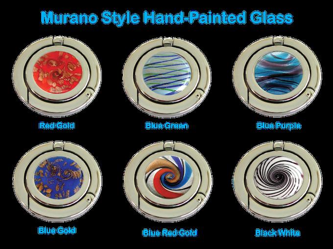 Murano Style Hand-Painted Glass