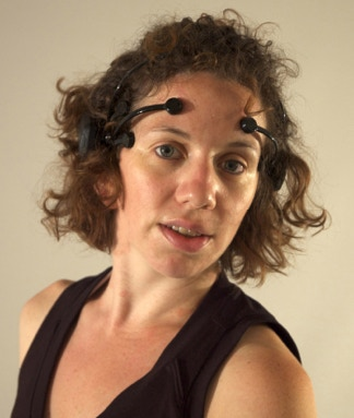 MWDCCo Dancer, Felicia Avalos, wearing the Emotiv neuro headset