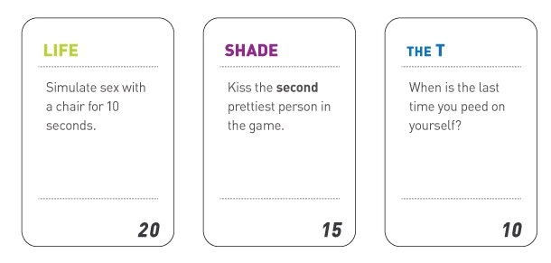 """""""Life"""", """"Shade"""" and """"The T"""" cards"""