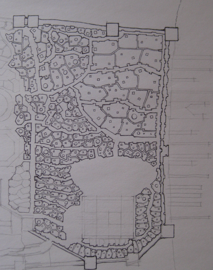 The beginnings of the city map...