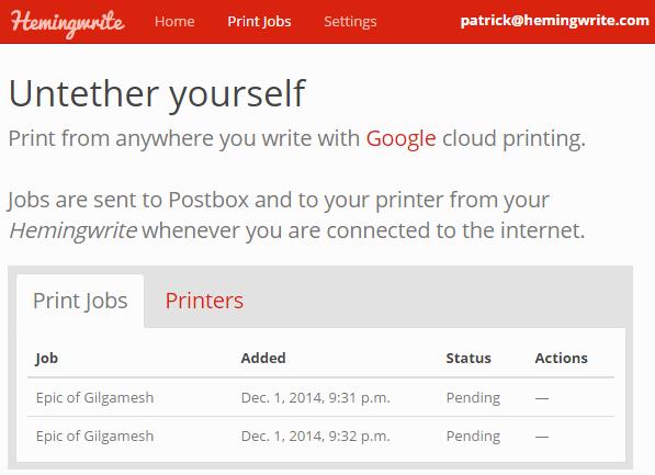 Postbox cloud printing