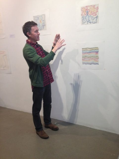 Robert discussing his work at A.P.T Gallery, November 2013
