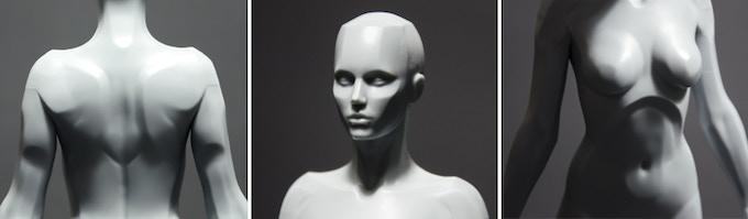 Female Planar resin prototype - close-ups