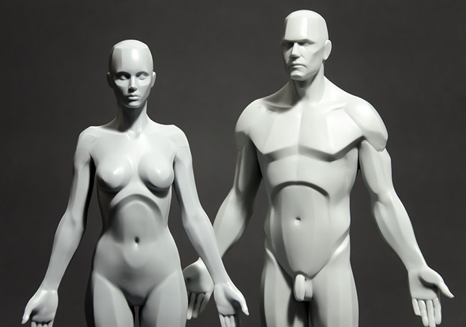 Male and Female Planar versions - resin prototypes