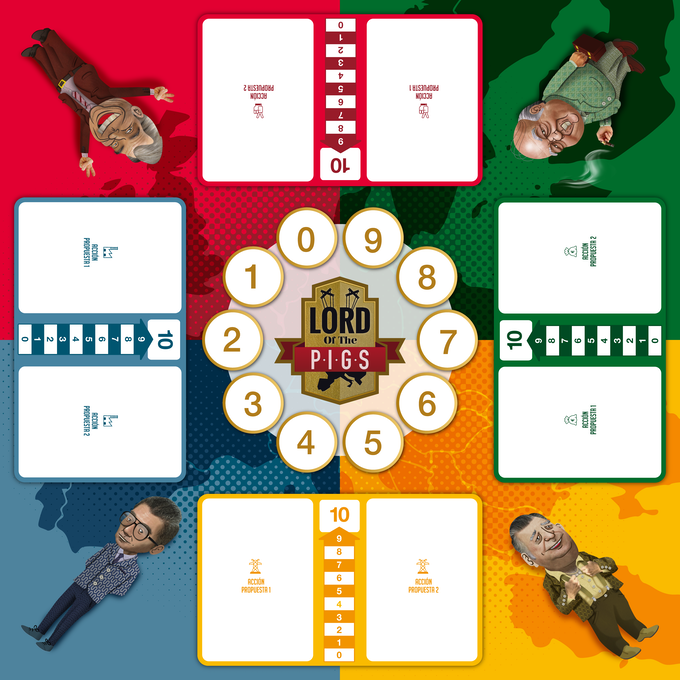 Here's the board of the game, done specifically for this Kickstarter campaign!