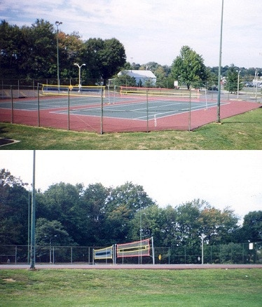 CAN CHANGE ANY EXISTING TENNIS COURTS INTO KHWIKBALL COURTS