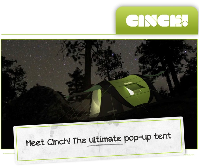 Meet Cinch The Ultimate Pop Up Tent With Solar Power