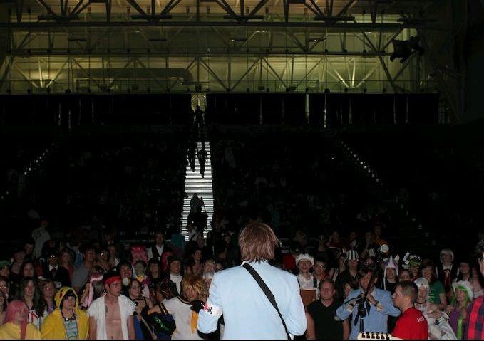 LeetStreet Boys performing at live at Animethon (Edmonton, Alberta) in 2011.