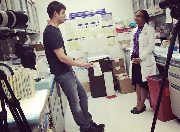 Shooting on C300s with Suzanne de la Monte, MD. Brown University, 2014