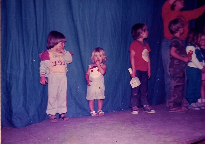That's me in the clown overalls.