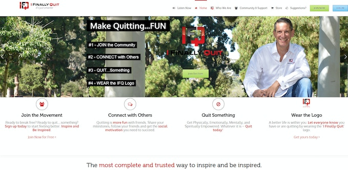 The I Finally Quit Homepage
