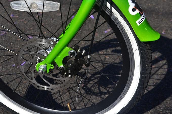 Mechanical front disc brake