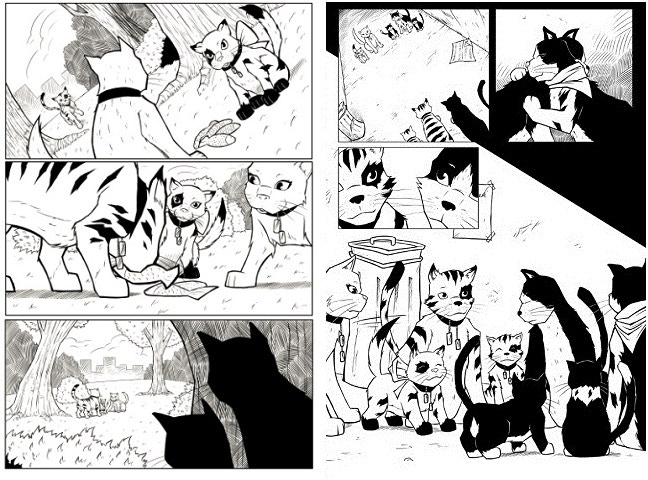 Inked Pages from the Tabby Project