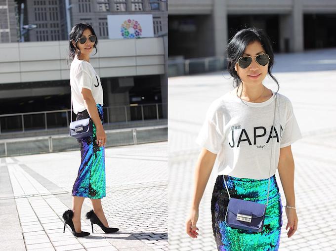 Fashion blogger wears ''Furry French'' at Tokyo Fashion Week