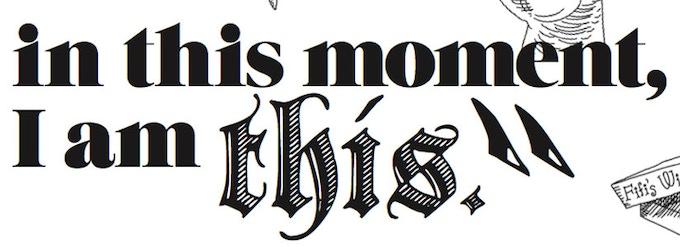 """""""VYMifesto"""" by Laurel Lynn Leake. Typography by Sasha Velour, Art by Romey Bensen"""