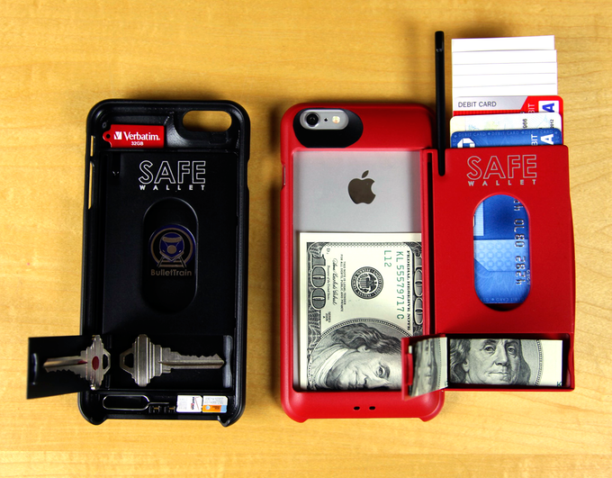 huge discount 498fd c1f89 SAFE Wallet Case for iPhone 6 Plus by BulletTrain — Kickstarter