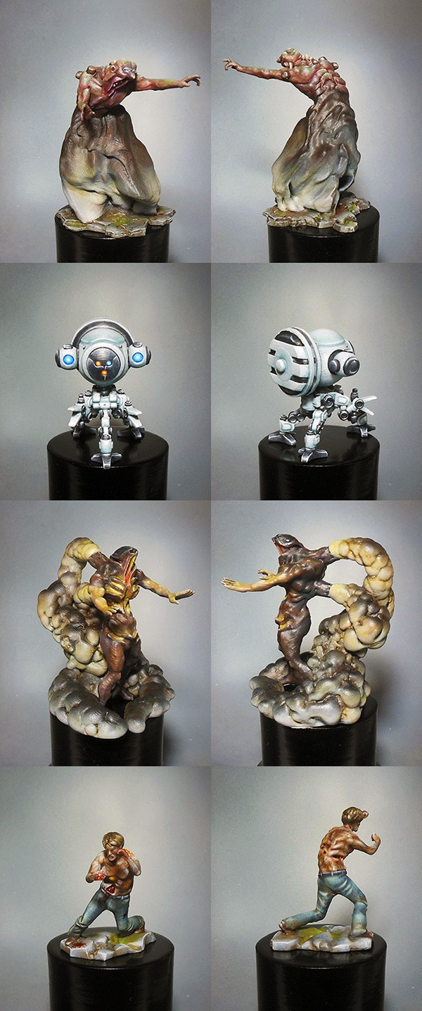 Some enemies and drone minis - Please note that the minis will come unpainted with the game.