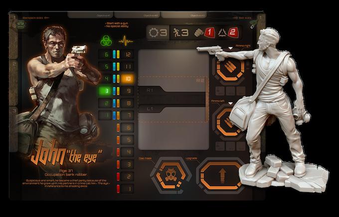 "John ""The eye"" player board + miniature concept"