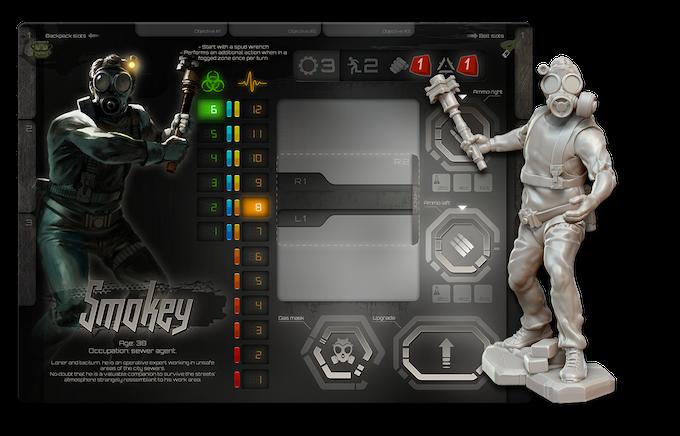 Smokey's player board + miniature concept