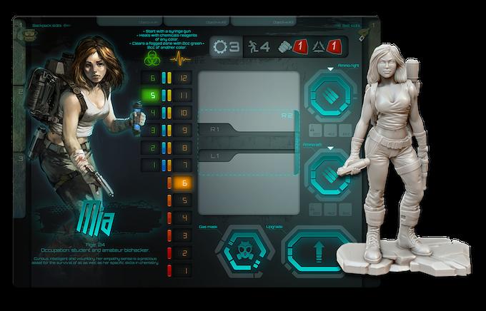 Mia's player board + miniature concept