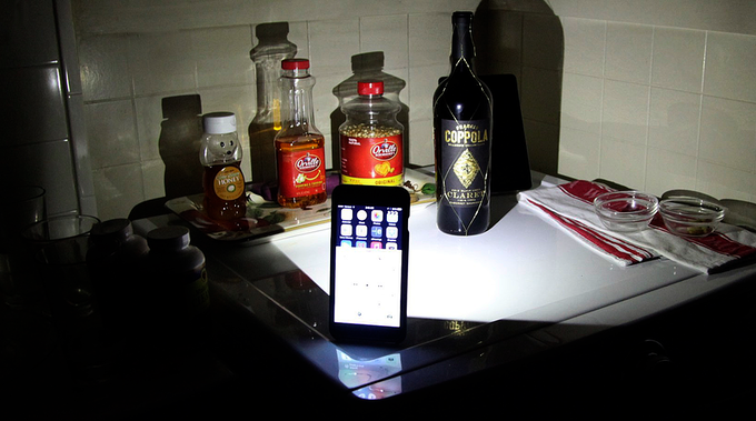 SAFE Wallet Shown Above As A Powerful Flashlight Stand