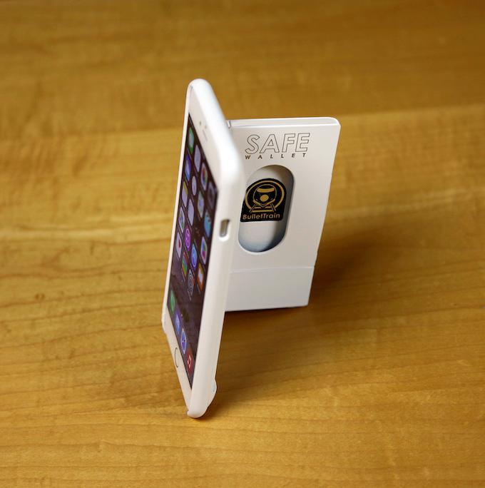 BulletTrain SAFE Wallet for iPhone 6 Plus in Polar White