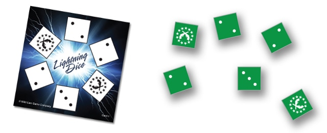 Be the first to match the criteria on the card by rolling and re-rolling any number of your dice.