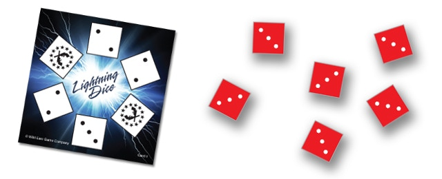 """If someone (other than player 3) rolled all 3's they would yell out """"Thunder 3!""""  Then player 3 would have to stop rolling their dice and move their pawn down a point."""