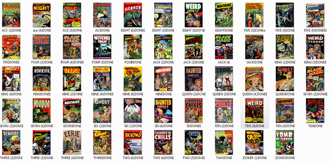 54 Classic Horror Comic Covers Retouched and ready !