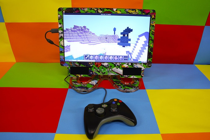 Minecraft Pi on the Multibox powered by the RPi Model B+