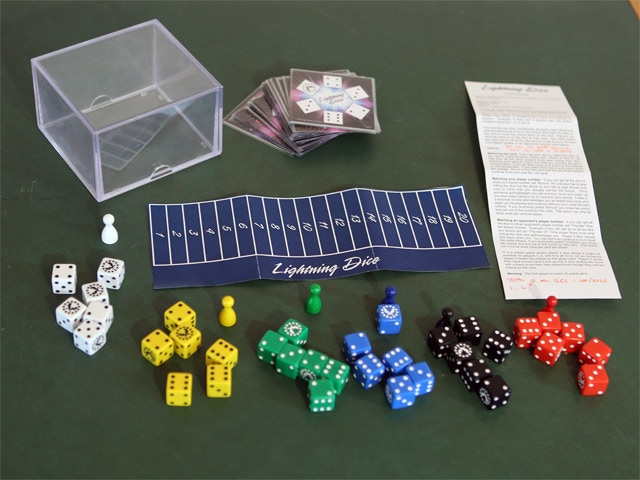 The first Lightning Dice game ever! (Prototype 1)