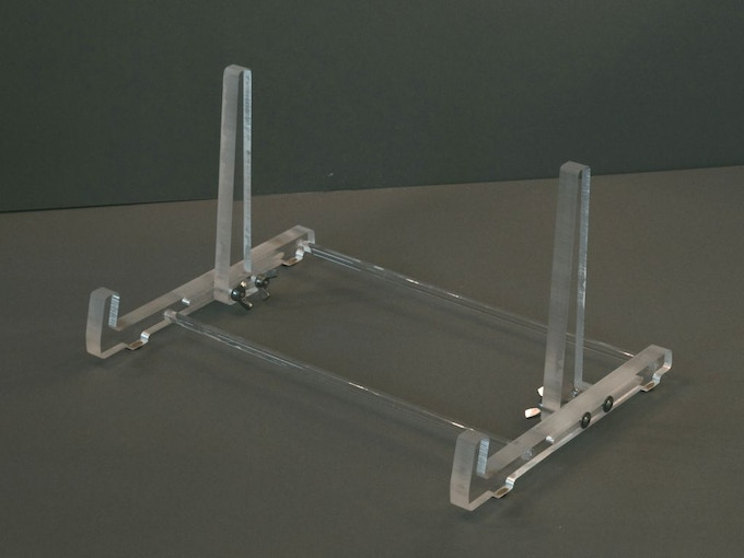 Stand in clear acrylic