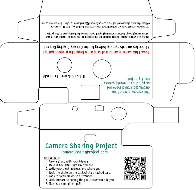 Customized Disposable Camera Casing