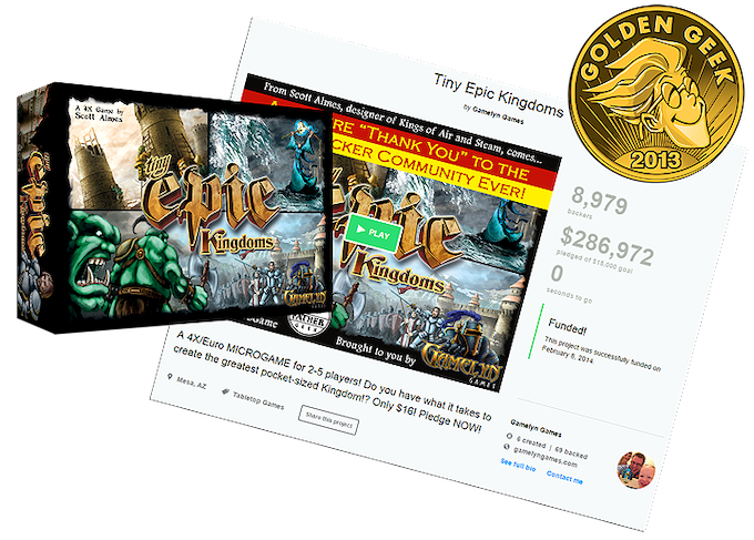 Click to visit the Tiny Epic Kingdoms' Kickstarter page