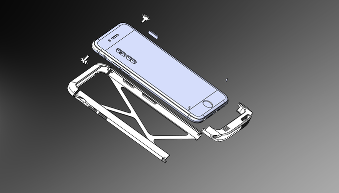 Constructed with 10 pieces for iPhone 6
