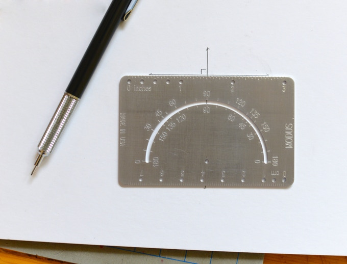Method 1: perpendicular to center hole and 90 degree notch