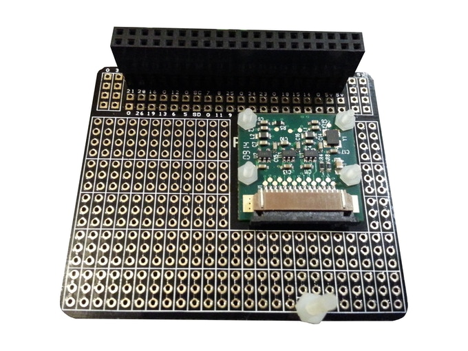 Your Camera Module bolts to the rear of the board