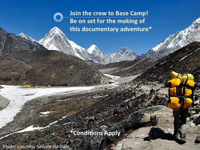 ∆ Join crew to Base Camp! Be on set for the making of the documentary adventure. (Limit of 5 - See *Conditions)