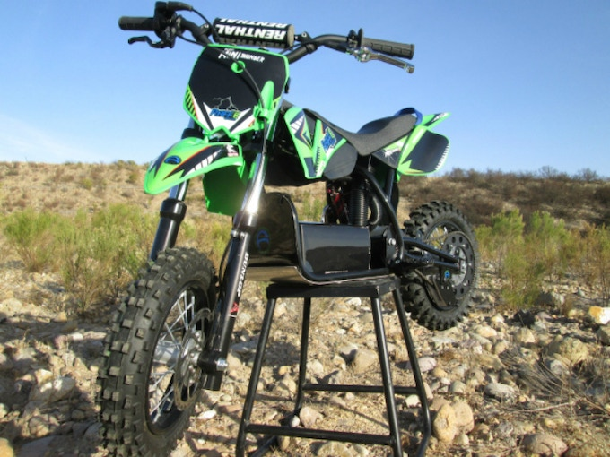 Finally, a competitive electric mini motocross bike designed and built for kids and their safety.