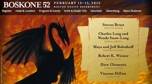 Boskone in Boston, MA (Feb 13-15, 2015)