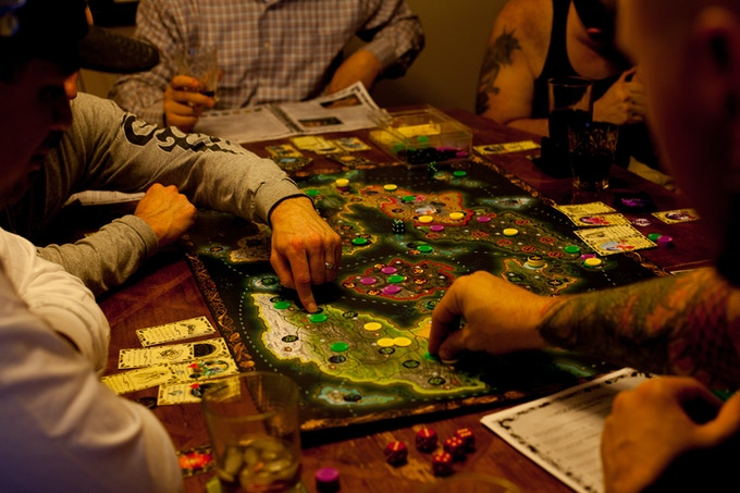 A 7 Player Game of Reign of Nations in Action