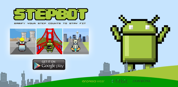 Run with 8 bit RPG Virtual pets on Android Wear & Fitbit by GPOP